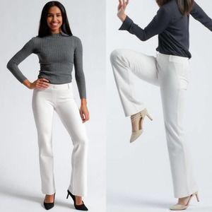 Betabrand White Bootcut Classic Dress Yoga Pants